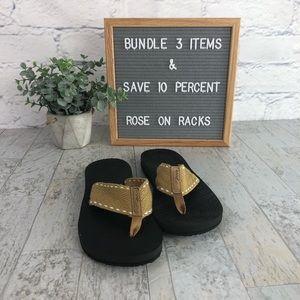Reef Tan Flip Flip Rubber Sole Sandal 1576